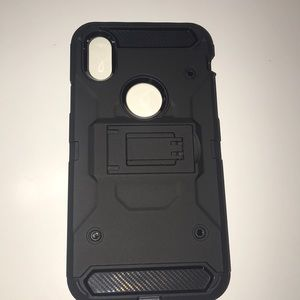 iPhone X hard Shockproof case with kickstand